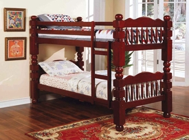 Cherry Finish 4.5 Post Bunk Bed