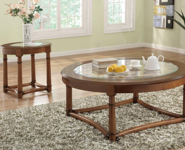 Cherry Wood Finish Occasional Collection 3-pc Set