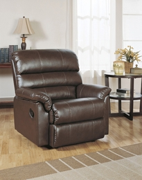 Chocolate Bonded Leather Recliner