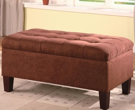 Chocolate Rectangular Storage Ottoman