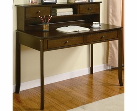 Classic Writing Desk with Small Storage Hutch