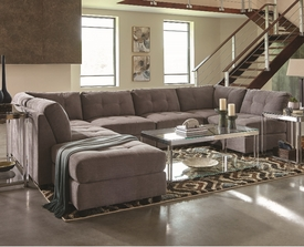 Claude Modular Grey Microfiber Sectional # 551004