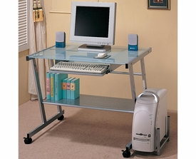 Computer Desk with Computer Storage and Casters