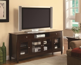 CONNECT-IT TV Console in Dark Walnut Finish