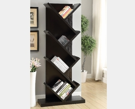 Contemporary Bookcase with Slanted Shelves