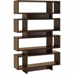 Cappuccino Retro Design Open Bookcase