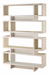White Retro Design Open Bookcase