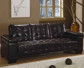 Convertible Sofa Bed with Drop Down Console and Storage