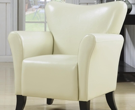 Cream Accent Vinyl Upholstered Chair
