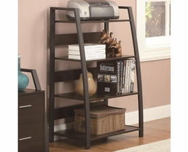 Curved Front Legs Open Bookcase with 4 Shelves