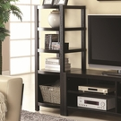 Cappuccino Finish Curved Front Media Tower