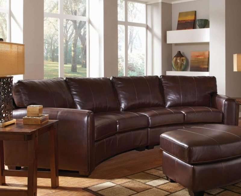 dark brown bonded leather curved sofa sectional by coaster furniture 503401 dallas fort worth. Black Bedroom Furniture Sets. Home Design Ideas