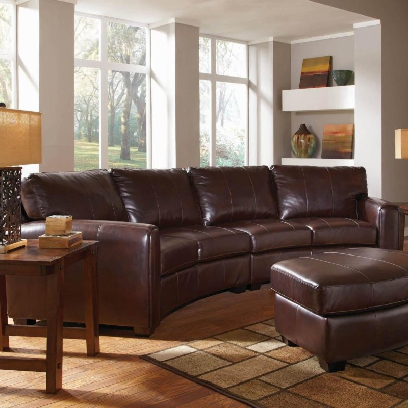 dark brown bonded leather curved sofa sectional by coaster No Credit Needed Furniture Progressive Furniture Financing