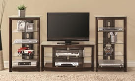 Dark Brown Wall Unit TV Console