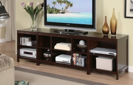 Dark Cherry TV Stand w/opt Shelf Set