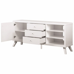 White Contemporary High Gloss TV Stand