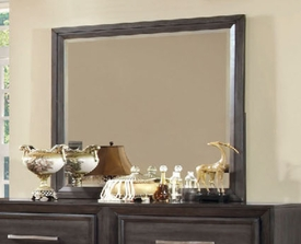 Dark Gray Finish Dresser Mirror