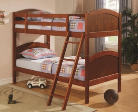 Dark Pine Finish Twin Over Twin Bunk Bed