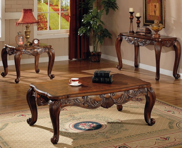 Deep Brown Finish Venice Collection 3-pc Set