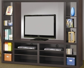 Deep Cappuccino Finish Entertainment Wall Unit