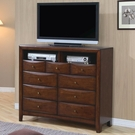 Warm Brown Finish TV Dresser