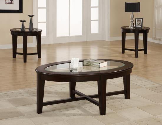 Cappuccino 3-pc Coffee Table Set