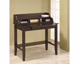 Desk with Pull-Out Surface and Tiered Storage