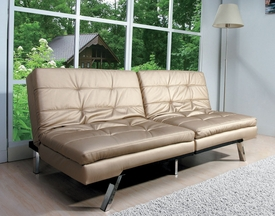 Devan Champagne PU Adjustable Sofa