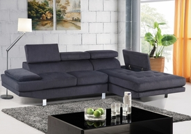 Madison Gray Fabric Sectional