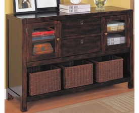 Dickson Console Table with Basket Storage