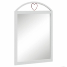 Dresser Mirror with Arched Heart Motif Top