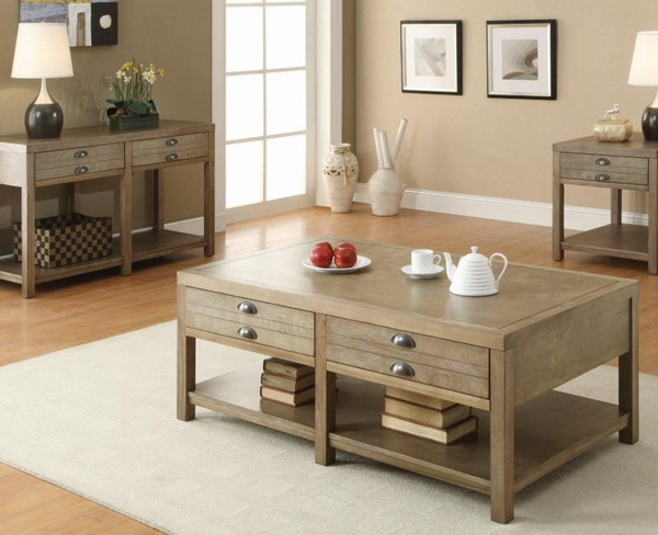 Driftwood Finish Occasional Collection 3-pc Set