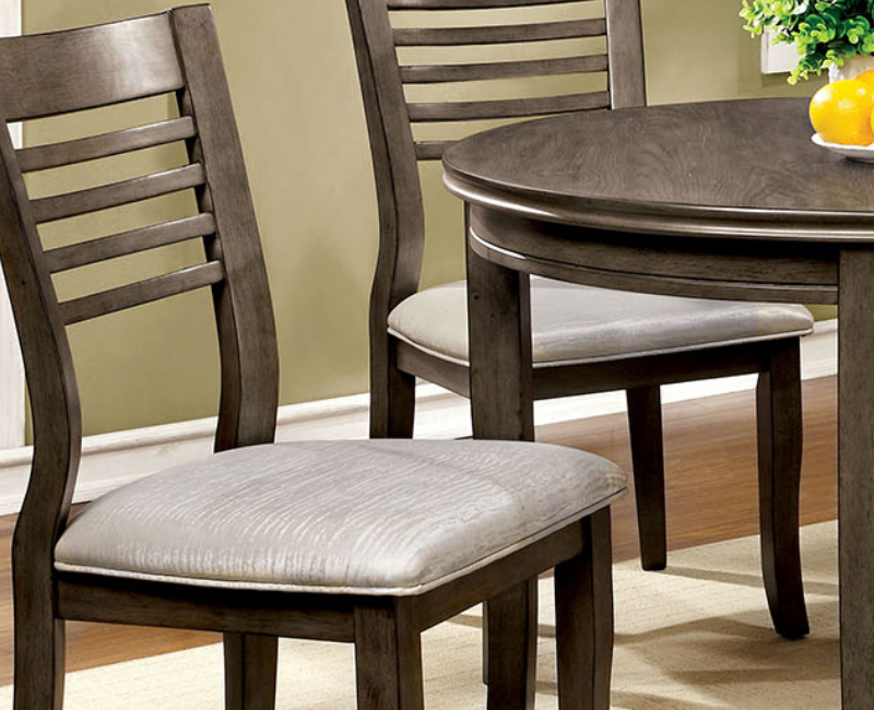 Dwight iii collection round set by furniture of america cm3988rt set furniture 4 less dallas Dining room furniture dallas