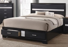 Miranda Black Queen Bed