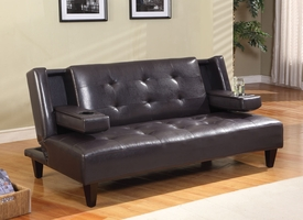 Ely Espresso Bycast Adjustable Sofa
