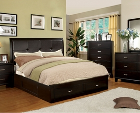 Enrico Espresso 4-pc Set with Storage Footboard