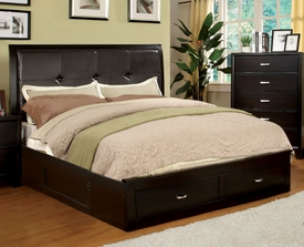 Enrico Espresso Queen Bed with Storage Footboard