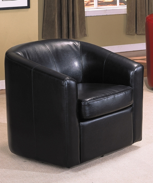 Espresso Bycast Swivel Chair