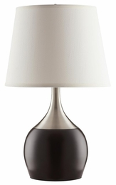 Espresso Color Block Style Base Table Lamp