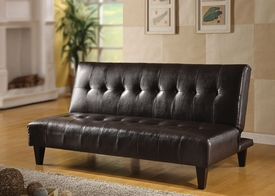 Espresso Finish Bycast Adjustable Sofa
