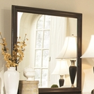 Espresso Finish Square Dresser Mirror
