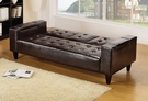 Espresso PU Adjustable Sofa Set