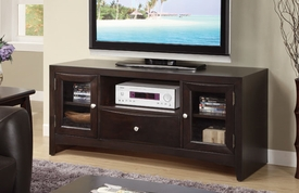Espresso TV Stand with DVD Drawer