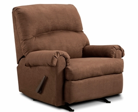 Flat Suede II Chocolate Rocker/Recliner