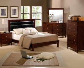 Fleming 5-Pc Bedroom Set with Upholstered Headboard