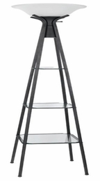 Floor Lamp with Clear Glass Shelving