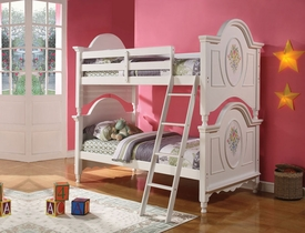 Flora White Bunk Bed