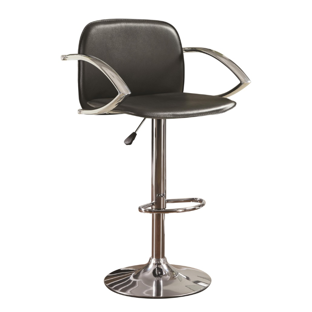 Gas lift bar stool 122093 dallas designer furniture 4 less for Designer chairs for less