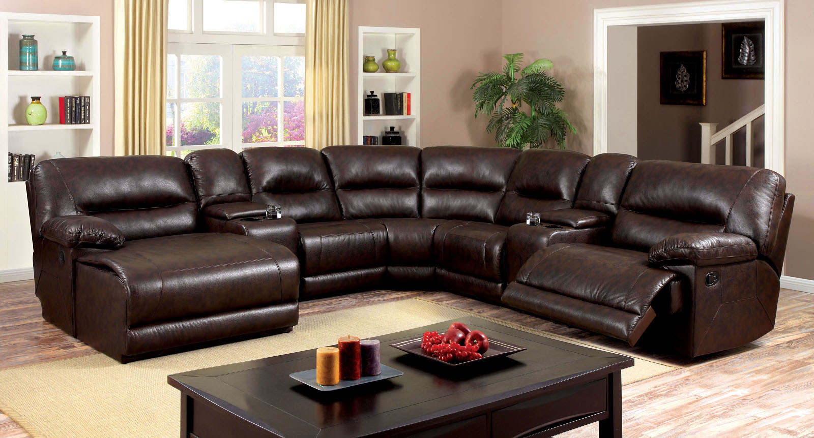 Glasgow Sectional By Furniture Of America Cm6822br