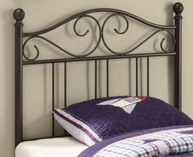 Glossy Finish Twin Metal Headboard